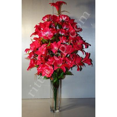 Букет искусственных роз и лилий 214