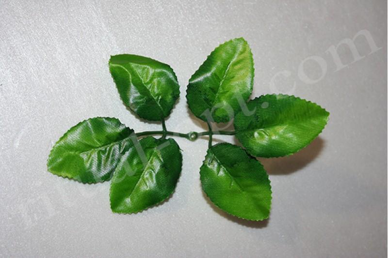 Искусственный лист розы №4